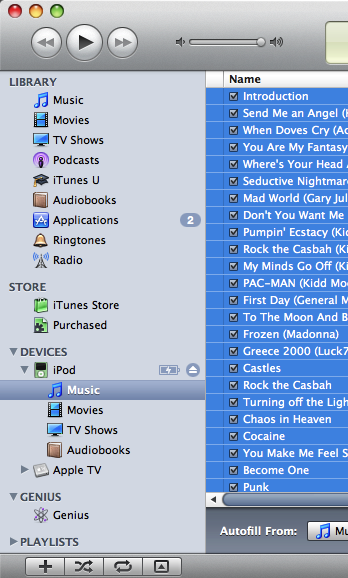 how to delete all music from ipod