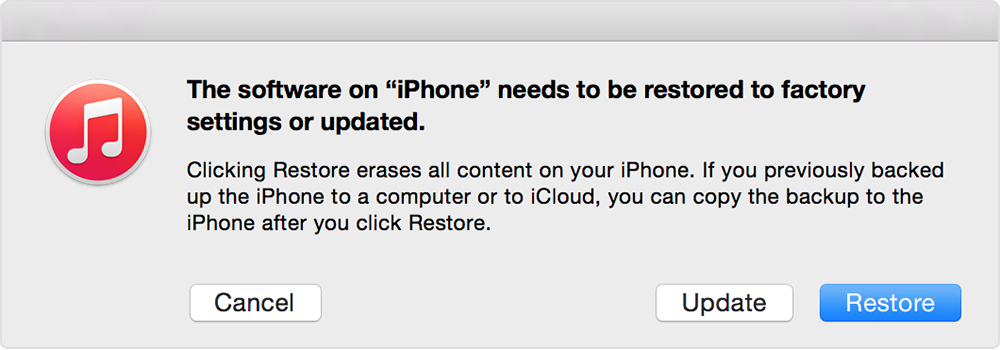 restore iphone without updating my s is disabled it says conne apple community 16018