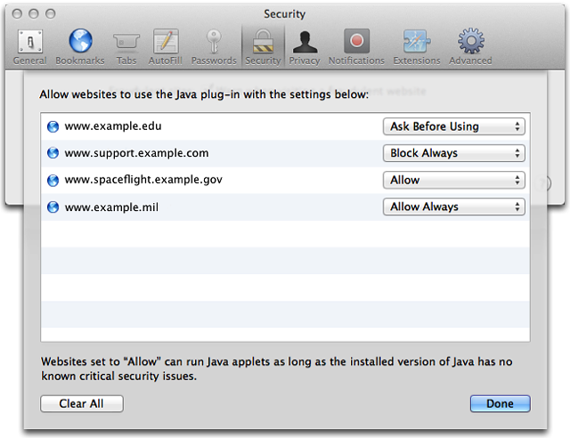 How to enable and disable Java in Safari on Mac | THKB