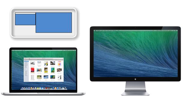 extended desktop arrangement