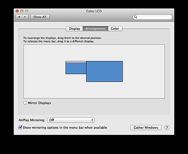 extended desktop preferences